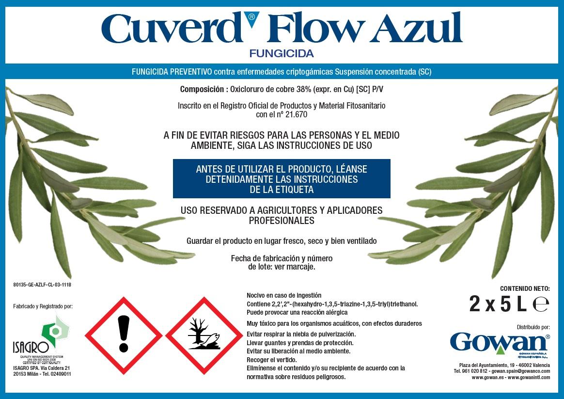 Cuverd Flow Azul portada